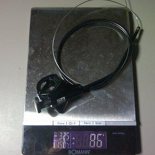 Gewicht Rock Shox Remote-/Lockout-Hebel Poploc Remote