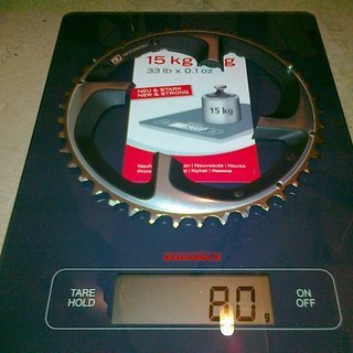 Gewicht Shimano Kettenblatt XTR FC-M980 104mm, 42Z