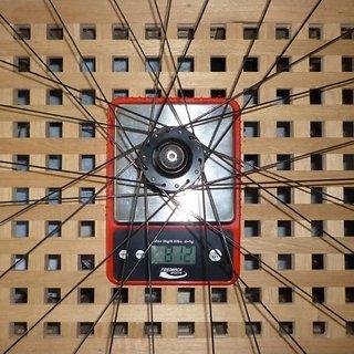 Gewicht DT Swiss Systemlaufräder X 1600 VR, 100mm/QR
