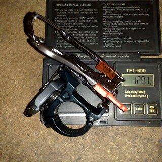 Gewicht Shimano Umwerfer XTR FD-M970 34,9mm