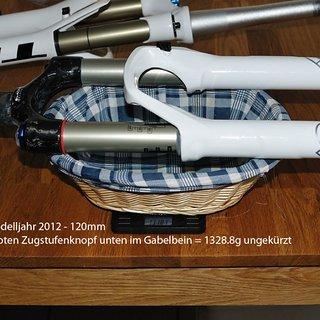 "Gewicht Rock Shox Federgabel SID World Cup 26"", 120mm, tapered"