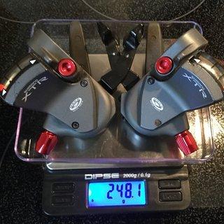 Gewicht Shimano Schalthebel XTR SL-M952 (tuned) 3-/9-fach