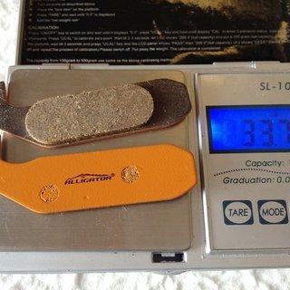 Gewicht Alligator Bremsbelag HK-004  Gustav M