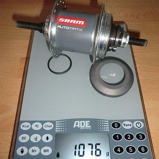Gewicht SRAM Nabenschaltungen Automatix Rollerbrake 36 Loch