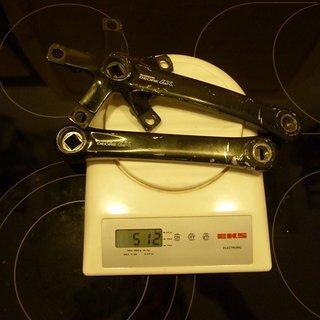 Gewicht Shimano Kurbel Deore LX FC-M560 175mm, 68/73mm, 4-kant