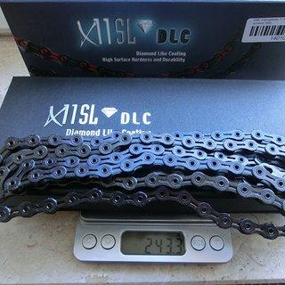 Gewicht KMC Chain Kette X11 SL DLC schwarz 116