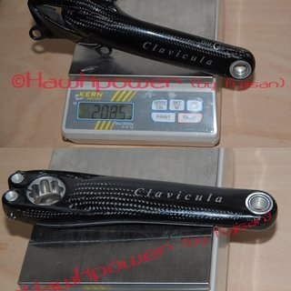 Gewicht THM-Carbones Kurbel Clavicula MTB 175mm, 68/73mm, HTII