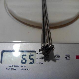 Gewicht Sapim Speiche Laser 239mm, 16 Stück