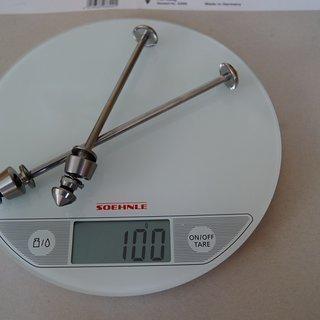 Gewicht Pitlock Schnellspanner Set 4 und 5