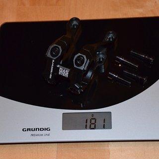 Gewicht Blackspire Vorbau DAS Stem 30° Rise 31.8mm, 42-47mm, 30°