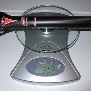 Gewicht Easton Sattelstütze EC90 Zero 31,6 x 400mm