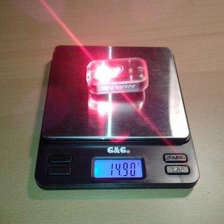 Gewicht Decathlon/Rockrider Beleuchtung Deacathlon VIOO Clip 300 schwarz B'TWIN