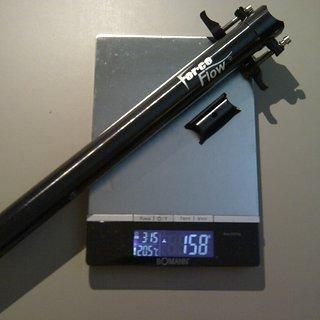 Gewicht Force Flow Sattelstütze Sattelstütze (Alu) 31,6 x 350mm