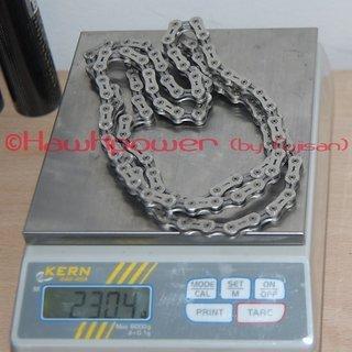 Gewicht Wippermann Kette Connex 9TR Titanium 106 Glieder, 9-fach