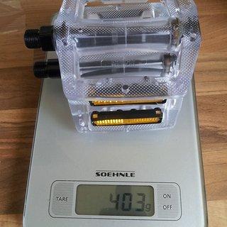 Gewicht Blackmarket Pedale (Platform) C4 Polytec Pedale clear 100x95x25mm