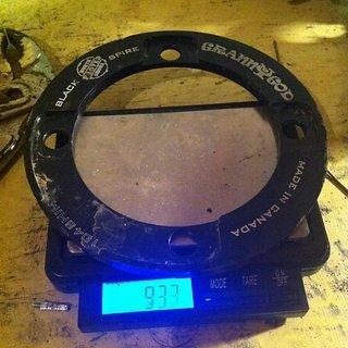 Gewicht Blackspire Bashguard Granny God 104mm