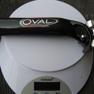 Gewicht Oval Concepts Sattelstütze R900 31.6 x 280mm