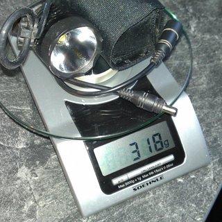 Gewicht Magicshine Beleuchtung HA-III SSC P7-C