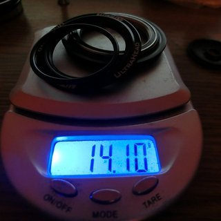 Gewicht Extralite Steuersatz  UltraTop    ZS44/28,6