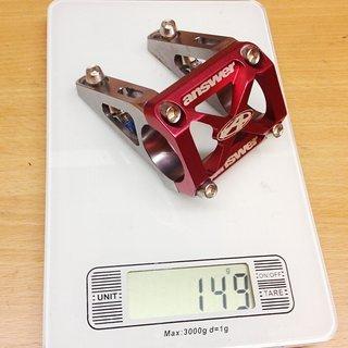 Gewicht Answer Vorbau DH Stem 31.8mm, 45/50/55mm