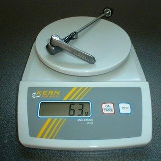 Gewicht Shimano Schnellspanner Ultegra FH-6600 130mm