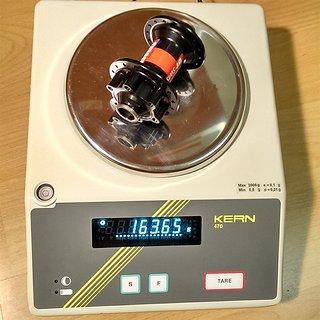 Gewicht DT Swiss Nabe 240s IS FW 100mm/15, 32-Loch