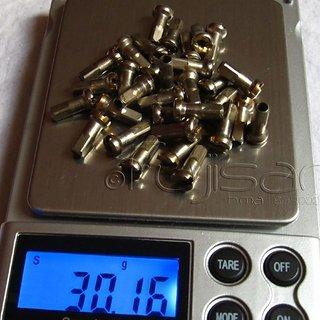 Gewicht No-Name Speichennippel Messing-Nippel 32x, 2mm, 12mm