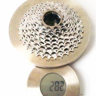 Gewicht Shimano Kassette XT CS-M750 9-fach, 11-34Z