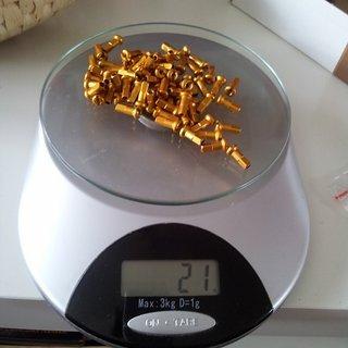 Gewicht DT Swiss Speichennippel Pro Lock Alu 64x, 2mm, 12mm