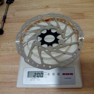 Gewicht Shimano Bremsscheibe SM-RT64L 203mm