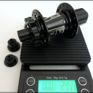 Gewicht ZTTO Nabe DR190 142/12mm, 32-Loch