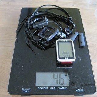 Gewicht VDO Computer M3 WR