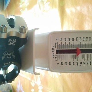 Gewicht KCNC Vorbau Fly Ride OS 31.8mm, 50mm, 5°