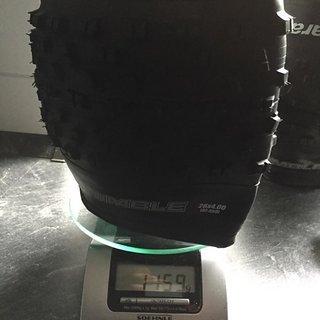 Gewicht Panaracer Reifen Fat B Nimble 120TPI 26x4.0, 85-584