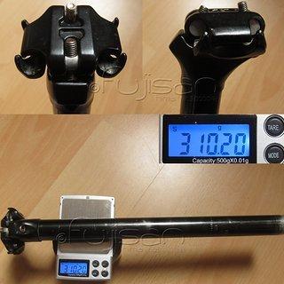 Gewicht Rocky Mountain Sattelstütze Sattelstütze (Alu) 26,8 x 350mm