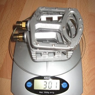 Gewicht Wellgo Pedale (Platform) MG-1 Ti 114.6x106.2x30.8mm