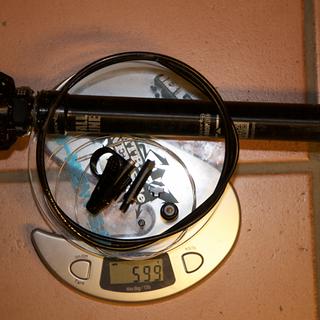 Gewicht 9Point8 Sattelstütze höhenverstellbar Fall Line 31,6 x 440 mm | 150 mm
