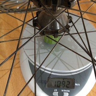 Gewicht Hope Systemlaufräder Hoops Pro 3 SP-AM4 + DT EX500 HR, 135mm/12