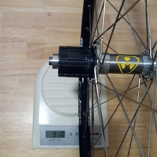 "Gewicht Nukeproof Systemlaufräder Ti Freehub - Remerx Dragon - Sapim Laser 24"", HR, 135mm/QR"