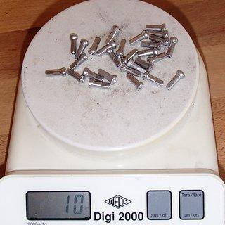 Gewicht Sapim Speichennippel Polyax Alu 28x, 2mm, 14mm