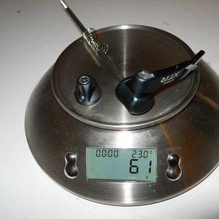 Gewicht Shimano Schnellspanner XTR 970er Serie 135mm