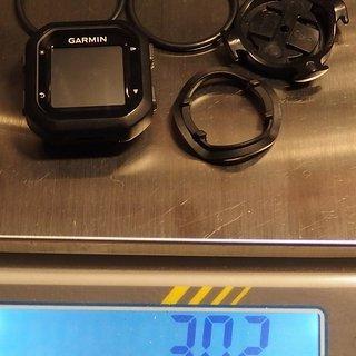 Gewicht Garmin Computer edge 20 (kpl. mit Halterung) ..