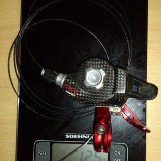 Gewicht SRAM Schalthebel X0 Trigger 9-fach