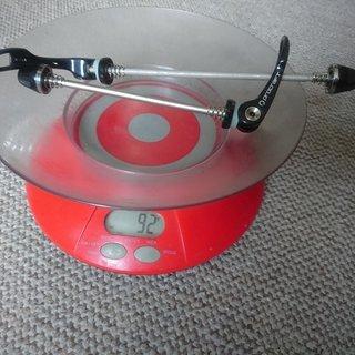 Gewicht Proline Schnellspanner Hollow MTB  100mm + 135mm
