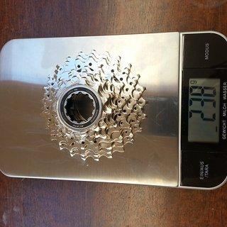 Gewicht Shimano Kassette 105 CS-5700 10-fach, 11-25Z