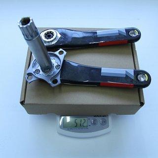 Gewicht SRAM Kurbel XX1  175mm, 68/73mm, GXP