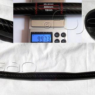 Gewicht No-Name Lenker Carbon Flatbar 25,4 x 600mm