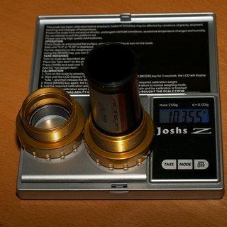 Gewicht Acros Innenlager A-BB MT HTII, 68/73mm, BSA