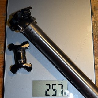 Gewicht MacMahone Sattelstütze MRC Ti 26,8x360