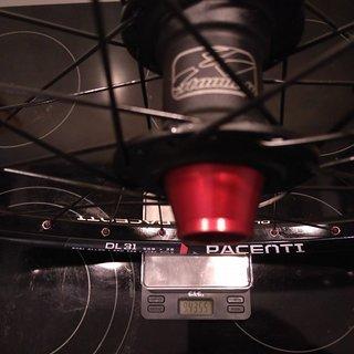 """Gewicht Atomlab Systemlaufräder Pimp - Pacenti DL31 - cnSpoke DB-454 26"""", VR, 110mm/20"""